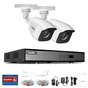SANNCE HD 8CH 1080P HDMI 5IN1 DVR Outdoor 3000TVL CCTV Camera Security System UK