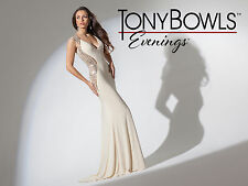Tony Bowls TBE11505--Color: Champagne--Size 8 --Prom Dress