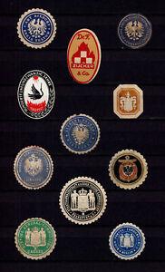 4091/ Lot Siegelmarken – kreuz und quer durch Ämter und Firmen – siehe scan