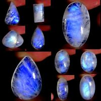 Natural Rainbow Moonstone Oval Pear Cabochon Collection Loose Gemstone