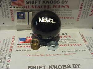 "Chevrolet Nova  #2, GM Licensed  Custom Shift Knob 2 1/8""  (Black)"
