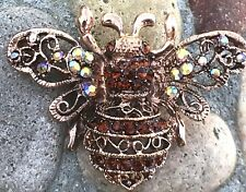 Brooch Insect Bee Bug Rhinestone Rhinestones Pin Crystal Fashion Jewelry Women