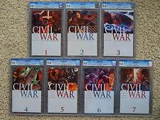 CIVIL WAR Set 1-7 all CGC 9.8 +Bonus (8 books total) -- Avengers Captain America
