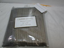 New Beatrice Home Fashions OMBRE JEWEL Shower Curtain - Chocolate, Taupe, Silver