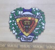 USMC Third Battalion Fourth Marines Embroidered Patch