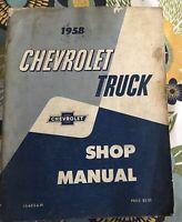"""1958 Chevrolet Truck Original Shop Manual  8 1/2 X 11"""" Complete"""