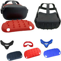 For Oculus Quest VR Glasses Helmet Soft Silicone Eye Mask Head Skin Cover Case