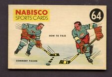 1953-54 Nabisco Cereal Hockey Card # 64 HOW TO PASS