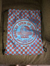Vans Us Open Of Surfing Drawstring Bag 2015 Excellent Condition