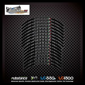 Beta 17 19 Inch Factory Rim Tapes Black Decal Sticker Trials (658)