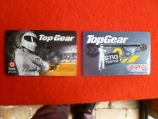 2X TOP GEAR STIG COLLECTORS TARGET  GIFT CARDS  USED