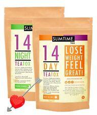 Slim Time Tea 14 Day TeaTox Combo (Skinny Tea Me Detox) + Bonus Tea Strainer