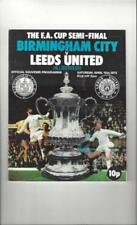 Away Team Leeds United Football FA Cup Fixture Programmes