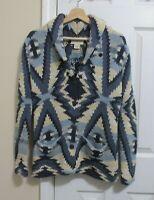 RALPH LAUREN~DENIM & SUPPLY~Thick Chunky Cotton Knit Navajo Cardigan Sweater S