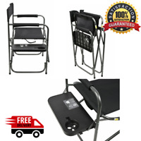 Ozark Trail Director's Chair with Foldout Side Table Camping Chair Black