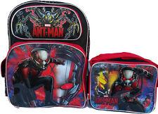 "Marvel Ant Man 16"" School Large Backpack & Lunch Bag 2 pc set NEW!!"