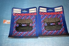 4 plaquettes de frein Av. GOODRIDGE Honda  CBR 500 600 F XRV 750 AFRICA TWIN