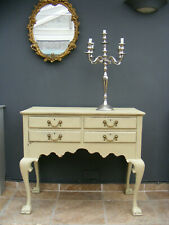 Antique style shabby chic solid oak hall table / dressing table / desk