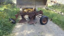 Vintage Antique Oliver 2 Bottom Plow tow behind hitch hydraulic lift trailer dra