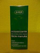 (11,98€/100ml) Ziaja Manuka Nachtcreme 50 ml für fettige und Mischhaut