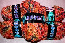 EP Dark Horse Wool & Acrylic Boucle Knit Crochet Yarn Lot 5 Skeins Brown Rust