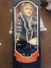 NIB Crowne Fine Porcelain Doll 'Bonnie' w/COA 1996