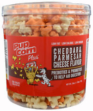 PupCorn Unique USA Cheddar & Parmasen Cheese Puffed Dog Treats - 28 oz