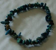 Azul Turquesa y pulsera de cristal de curación apatita Chip del grano