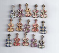 10 piezas guitarra pintada de botones madera accesorios de vestir costura de madera (180)