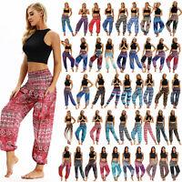 Women Yoga Harem Trousers Boho Baggy Hippy Loose Hippie Floral Long Pant Palazzo