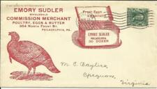 US Sc#300 Illustrated POULTRY Adv Philadelphia Pa MAY/23/1905 with enclosure
