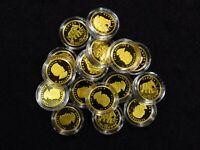 2014 1/10 Oz Canada Gold ELEPHANT .9999 FINE IN CAP (1 COIN)