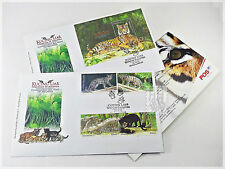 Malaysia 2013 Endangered Big Cats - FDC with Stamps & FDC with Miniature Sheet