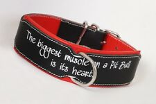 Leather Dog Collar Pit Bull Lovers,Hand Stitched,Strong Leather Collar pitbull