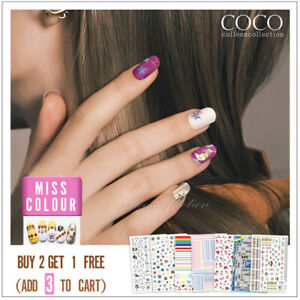 Nail Decor Decal Stickers New 3D Nail Art Accessories Flowers BOHO BUTTERFLY