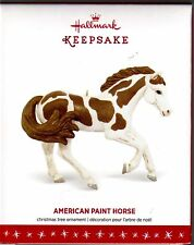 American Paint Horse Pony Brown White Hallmark 2016 Christmas Keepsake Ornament