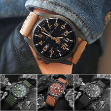 Luxury Men's New Date Stainless Steel Military Quartz Analog Sport Wrist Watch