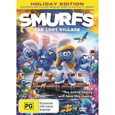SMURFS:The Lost Village-DVD-Region 4-Voice of Demi Lovato-New AND Sealed