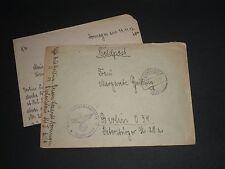 La Germania libera WW2 1942 Copertura Militare Feldpost dormaden a Berlino incletter