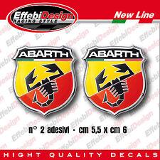 Adesivi / Stickers 2 pezzi logo ABARTH scorpione italy Fiat 500 Punto WRC