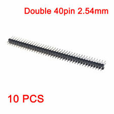 10pcs Double Row PCB Straight Male Header Pins 2x40p 2.54mm for Arduino New