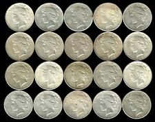 1 Roll__Mixed Peace Silver Dollars__AU-BU__#957KD8