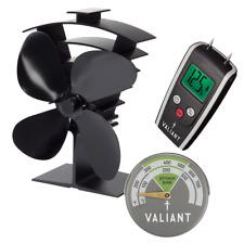 FIR138 Black Red Valiant Magnetic Log Burner Stove Thermometer
