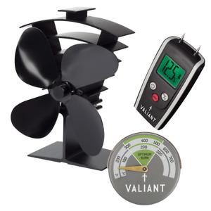 Valiant Log Burner Accessory Kit - Incl. Stove Fan, Moisture Meter & Thermometer