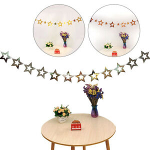 3m Christmas Pendants New Year Ornaments Twinkle Star Wall Hanging Paper String