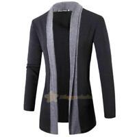 Men Stylish Knitted Cardigan Jacket Slim Long Sleeve Casual Sweater Fashion Coat