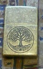 More details for plain tree of life zippo lighter free p&p free flints