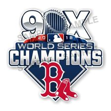 Boston Red Sox 9 Times World Series Champions Precision Cut Decal