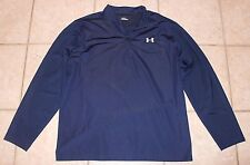Under Armour Mens Size XXL Navy Quarter Zip Collared Long Sleeve Pullover