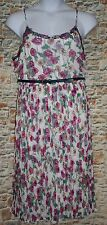 Lauren Conrad XL Patched & Pieced Pleated Midi Chiffon Lace EASTER Dress NEW LC